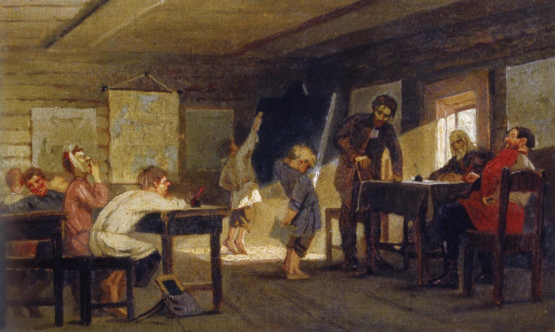 Mikhail Vasilyevich Nesterov. Exam in a rural school