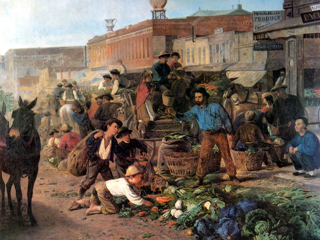Вильгельм Хан. Уличный рынок