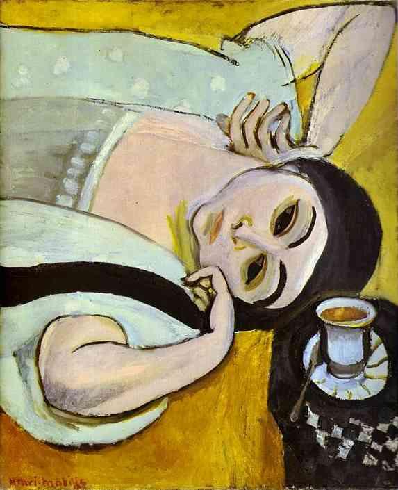 Анри Матисс. Голова Лоретты с чашкой кофе