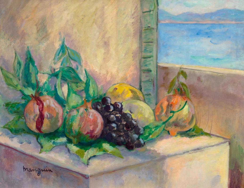 Henri Manguin. Pomegranates and grapes