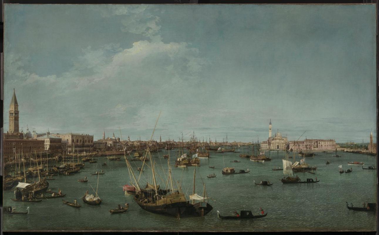 Giovanni Antonio Canal (Canaletto). San Marco harbor