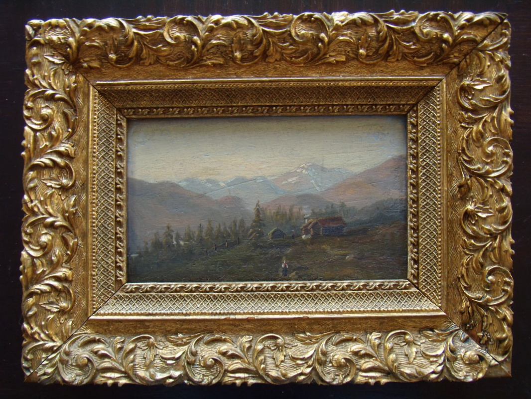 Unknown artist. Norwegian mountain landscape.