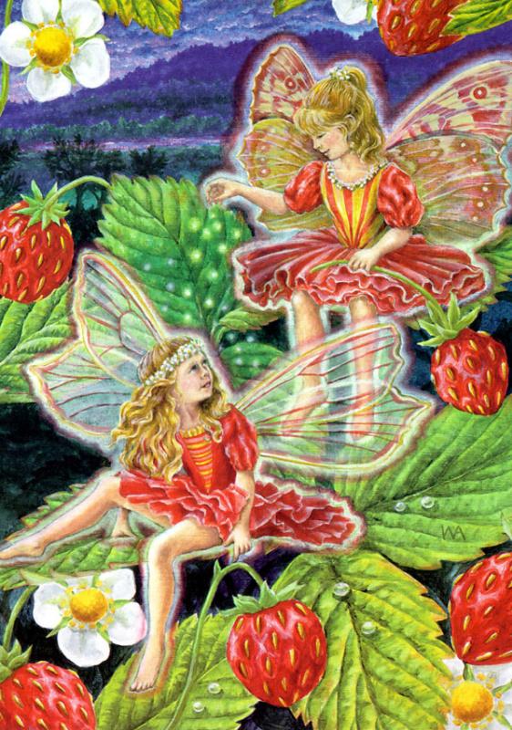 Клубничные красные феи