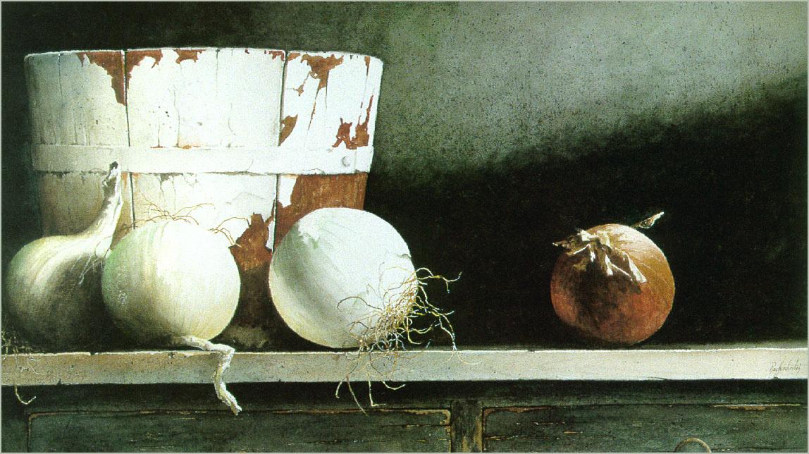 Ray Hendershot. Still life with onions