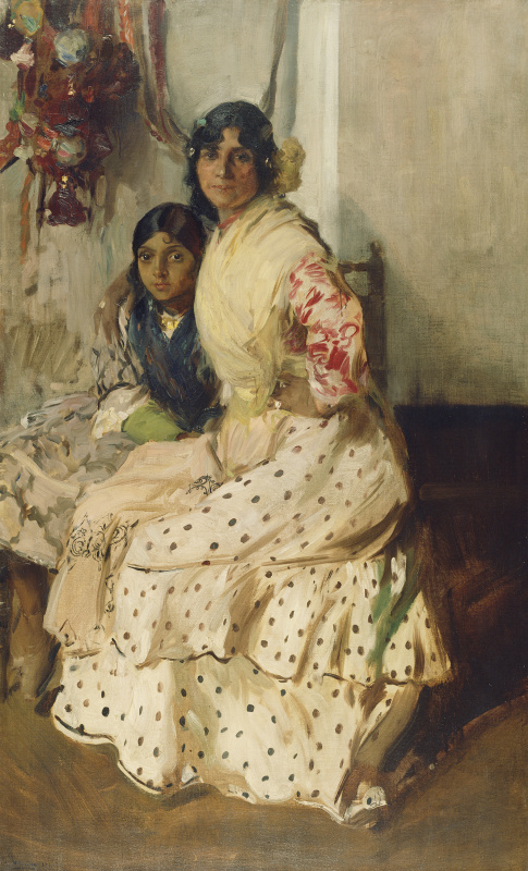 Хоакин Соролья (Соройя). Цыганка Пепилла с дочерью