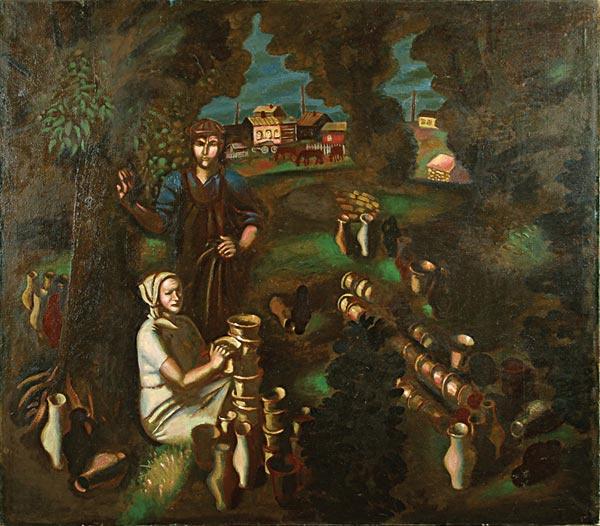 Oleg Vladimirovich Lang. Potters from the village of Filimonovo