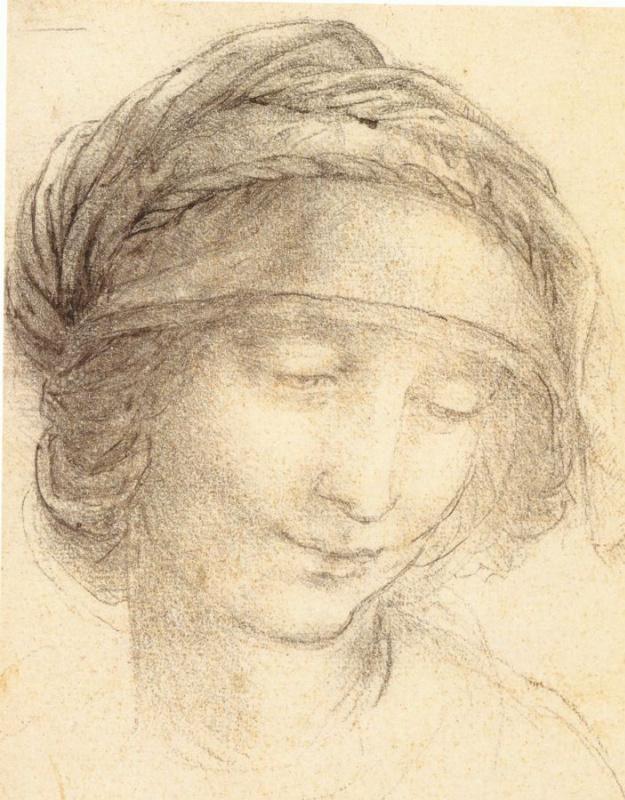 Leonardo da Vinci. Saint Anne (sketch)