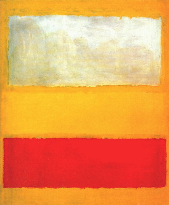 No. 13. White and red on a yellow
