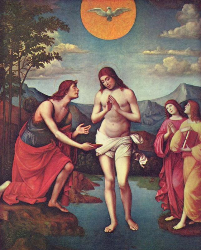 Франческо Франча. Крещение