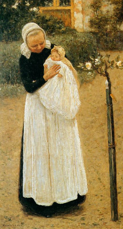 Старая горничная и ребенок
