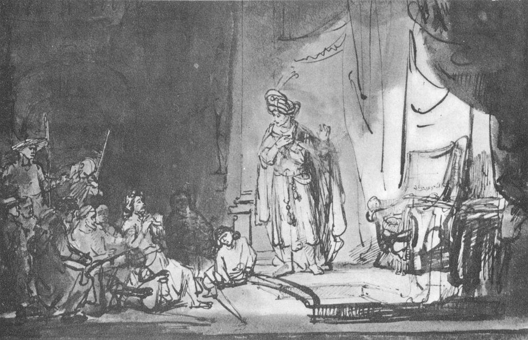 Рембрандт Ван Рейн. Иосиф позволяет братьям узнать себя
