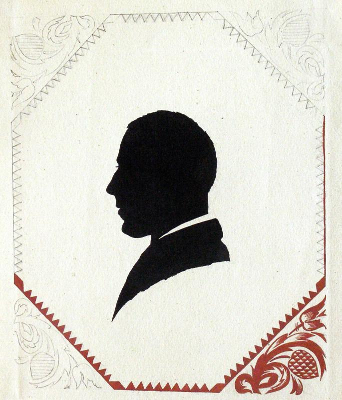 Георгий Иванович Нарбут. Self portrait. Silhouette