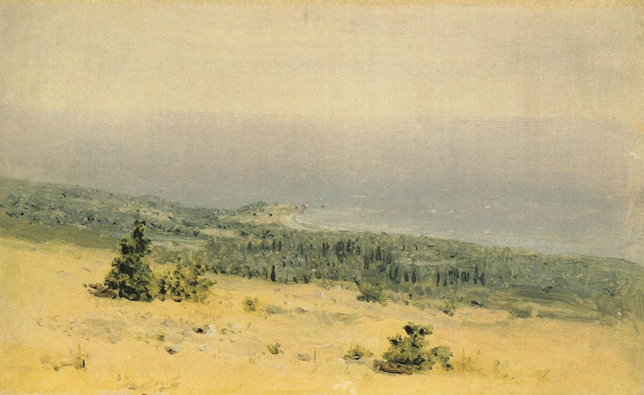 Архип Иванович Куинджи. Вид на берег и море с гор. Крым