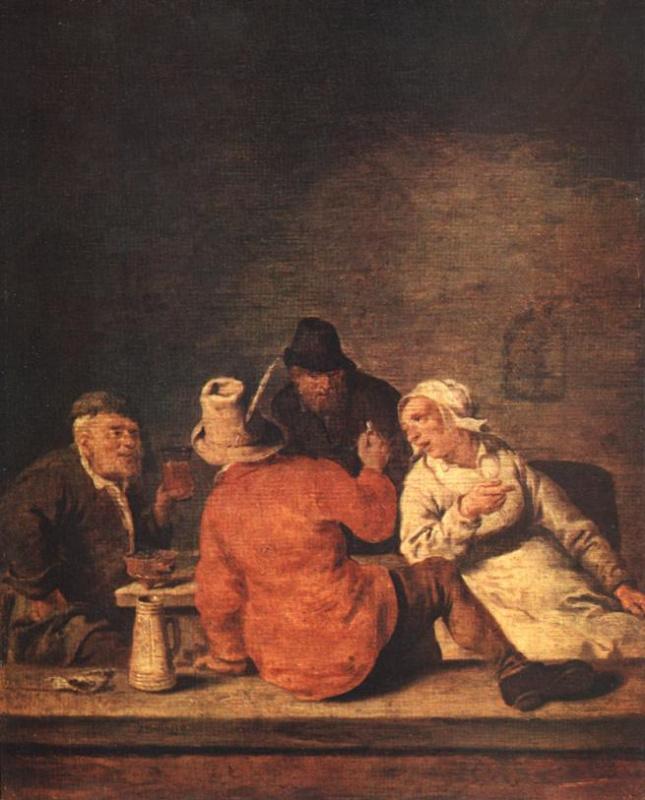 Ян Минсе Молинар. Крестьяне в таверне