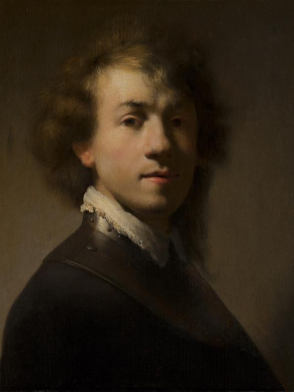 Rembrandt Harmenszoon van Rijn. Self- Portrait with Gorget