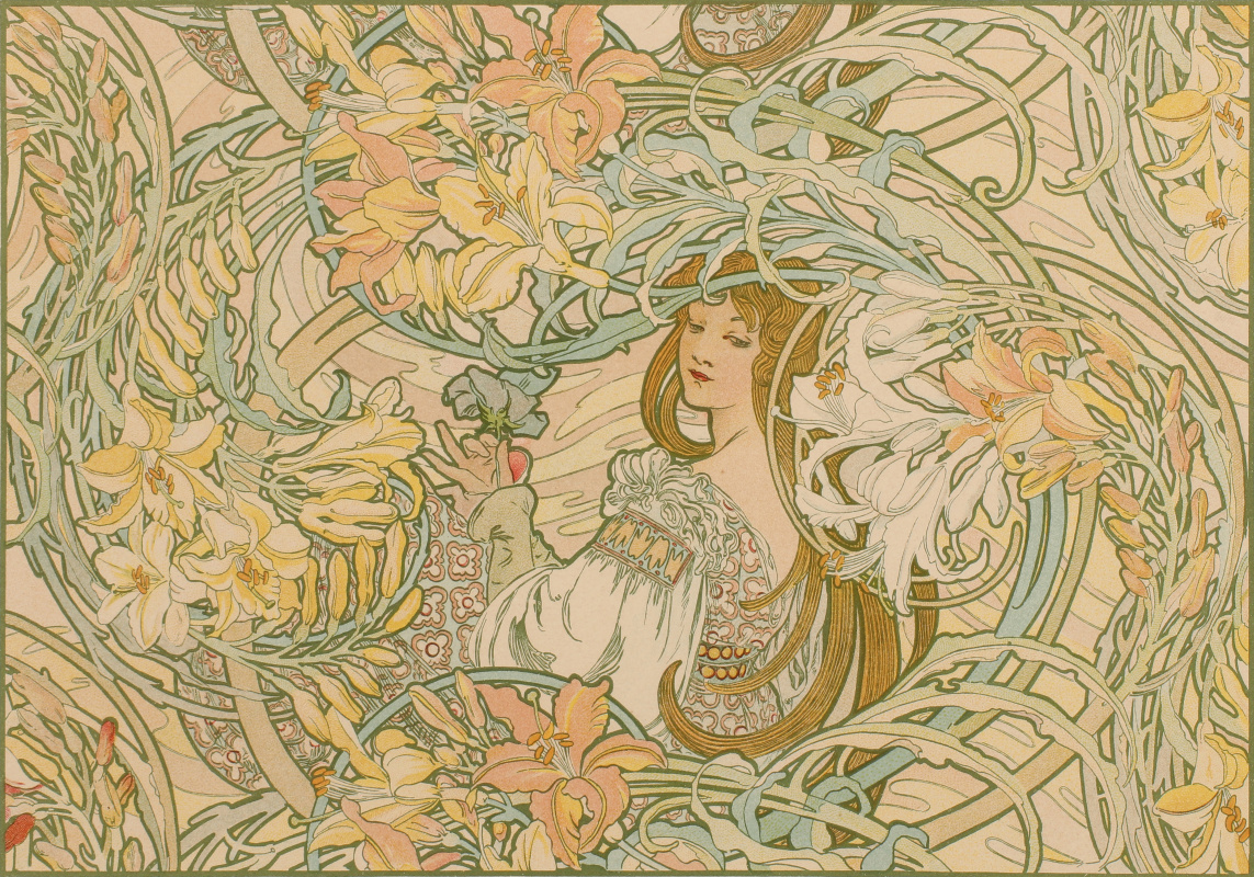 Alphonse Mucha. Language of flowers