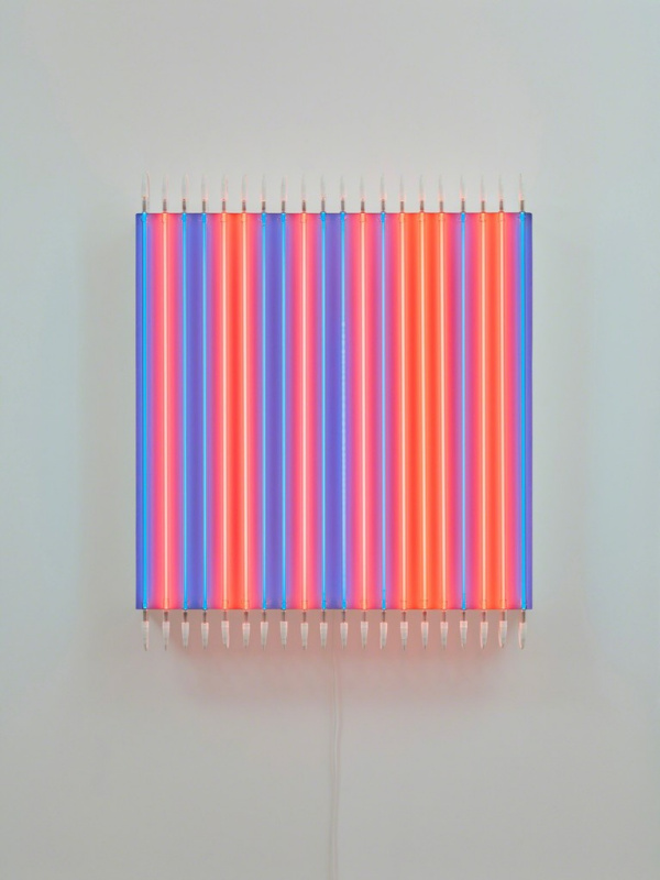 Francois Morelle. Red even - odd blue No. 13