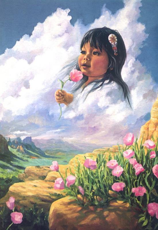 Цветы в каньоне
