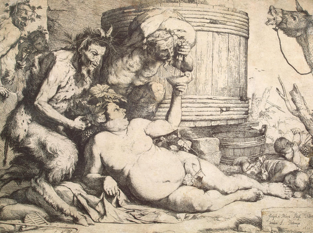 Jose de Ribera. Drunken Silenus