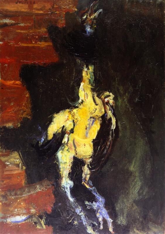 Хаим Соломонович Сутин. Курица, висящая перед кирпичной стеной