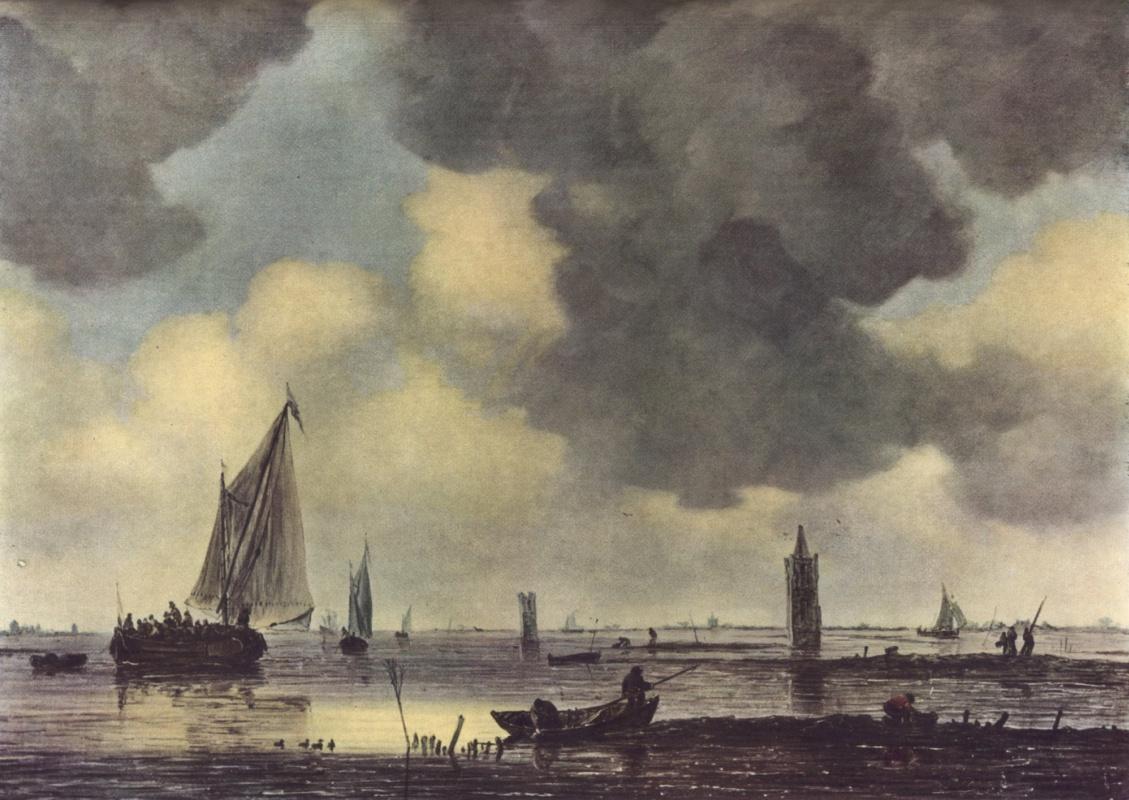 Jan van Goyen. Boats in the calm sea