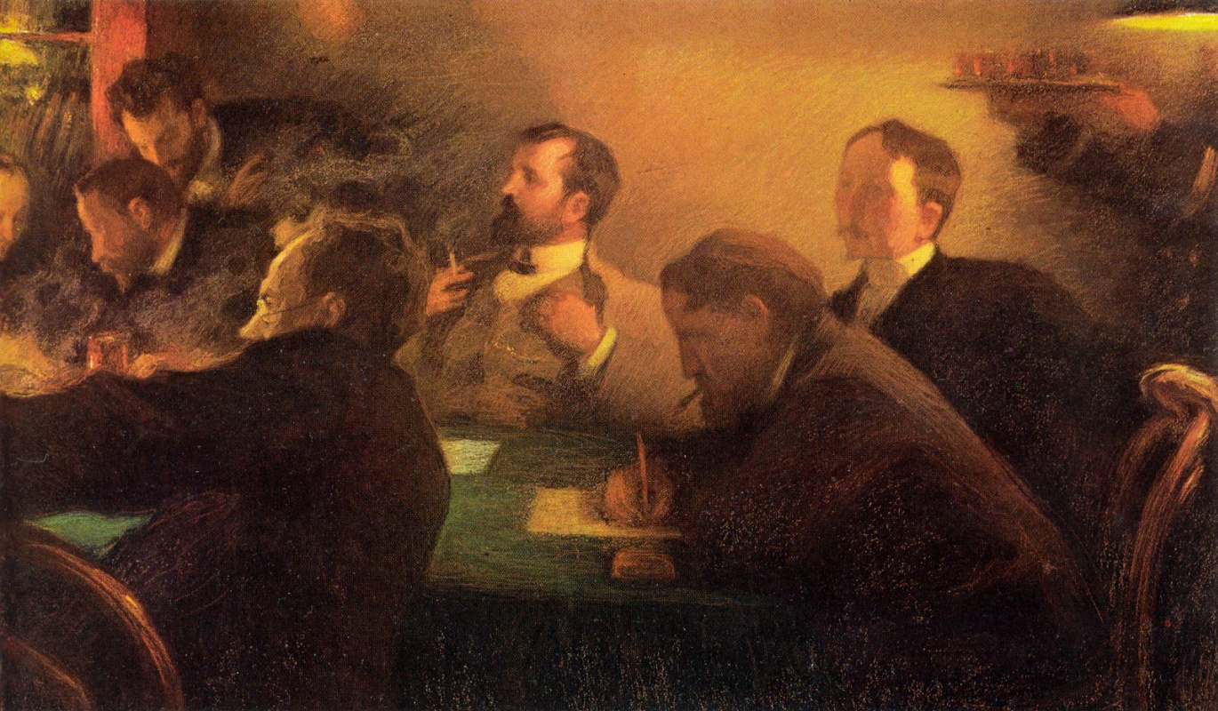 Leonid Pasternak. A meeting of the Council of artists - teachers of the Moscow school of painting, sculpture and architecture