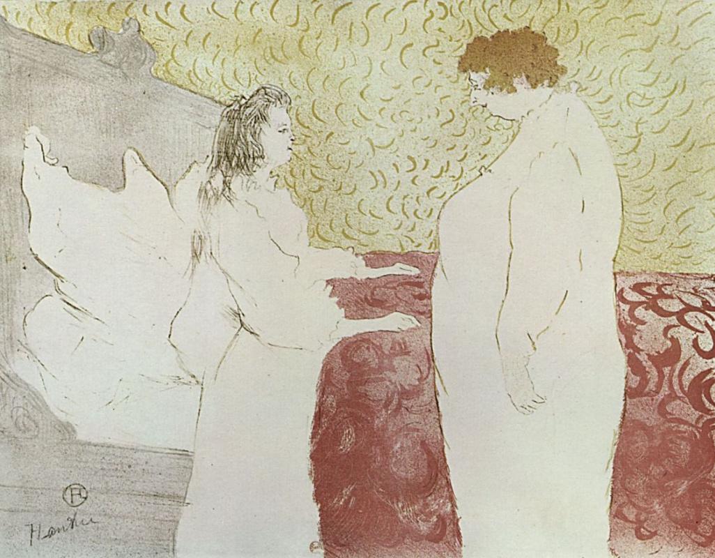 Анри де Тулуз-Лотрек. Женщина в постели, профиль