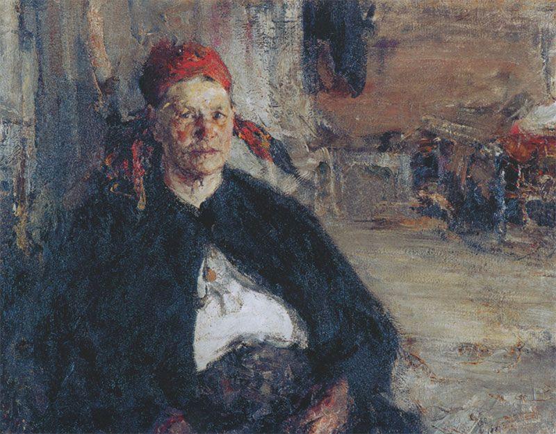 Николай Иванович Фешин. Баба на сундуке