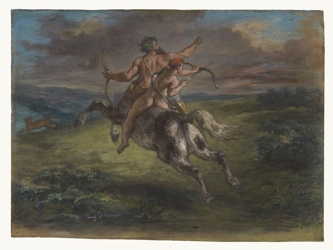 Eugene Delacroix. The Education Of Achilles