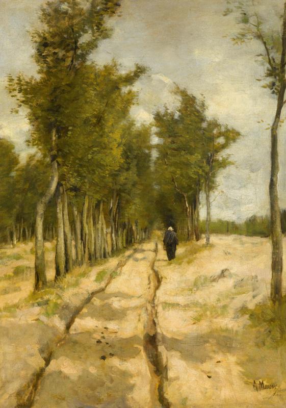 Anton Maouve. Alley in Laren