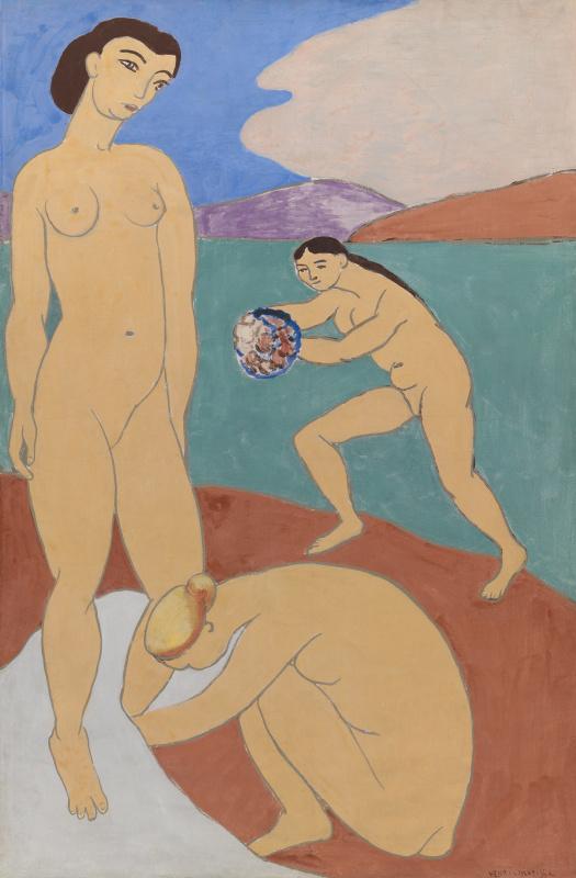Произведения Анри Матисса, запечатлённые наего картине «Красная мастерская». Обратите внимание нат