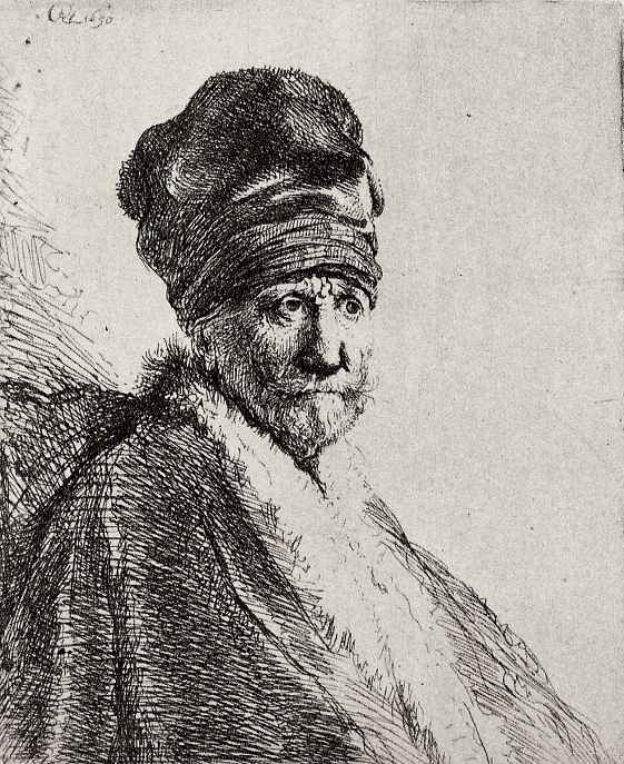 Рембрандт Ван Рейн. Портрет усатого мужчины в шапке наподобие тюрбана