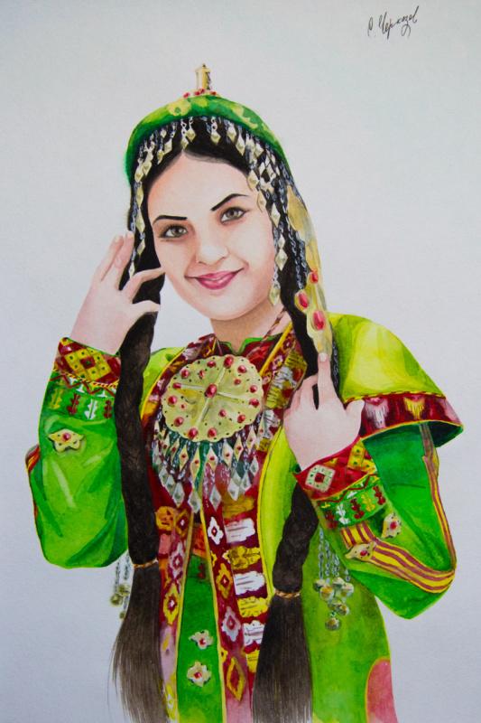 Сердар Черкезов. Восточная красавица