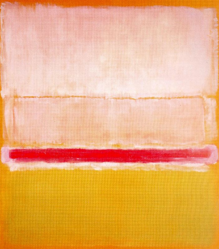 Rothko Mark.  No. 2 (White, red and yellow)