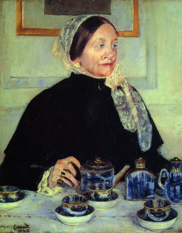 Мэри Кассат. Леди за чайным столом