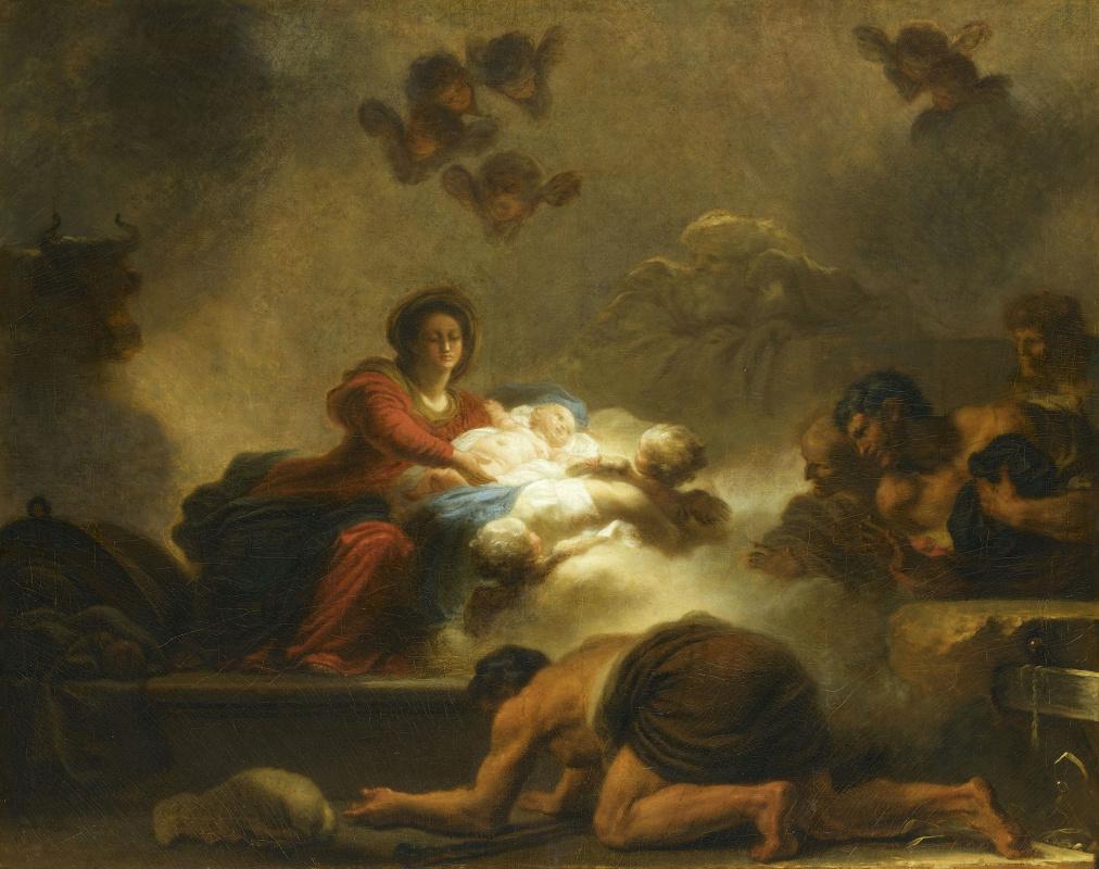 Жан Оноре Фрагонар. Поклонение пастухов