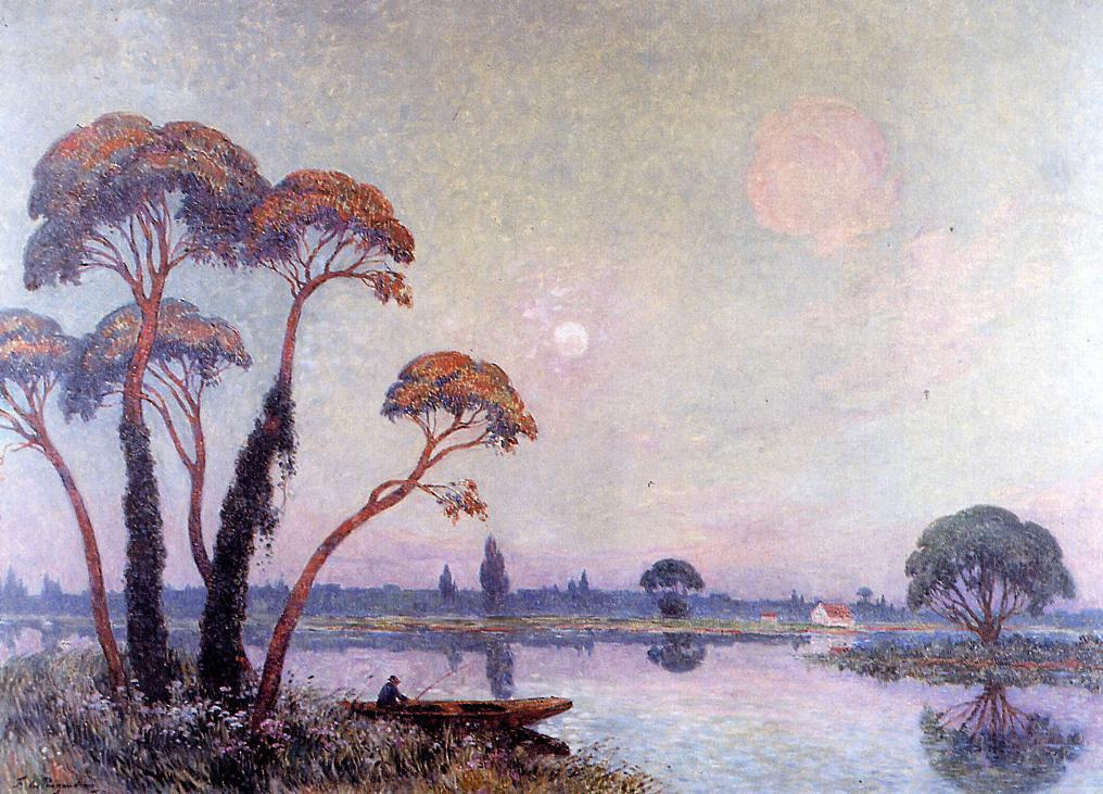 Ferdinand Loyet de Piogode. Fishermen on the banks of the Loire
