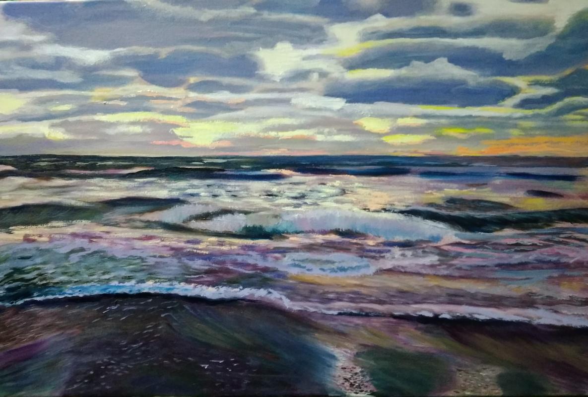 Olga Polovtsy. Waves of the Baltic Sea.