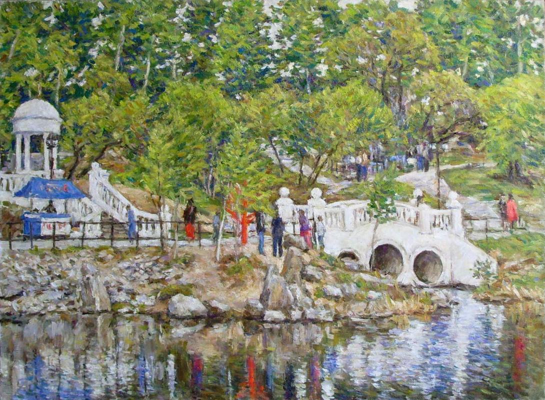 Urii Parchaikin. The pond. northern