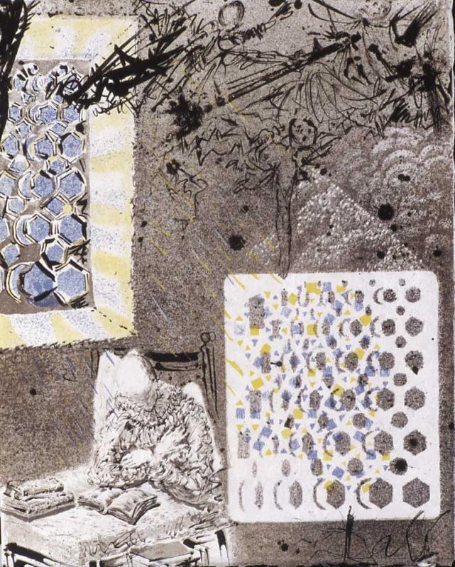 """Сальвадор Дали. Ночные кошмары Дон Кихота (Иллюстрация к роману """"Дон Кихот"""")"""