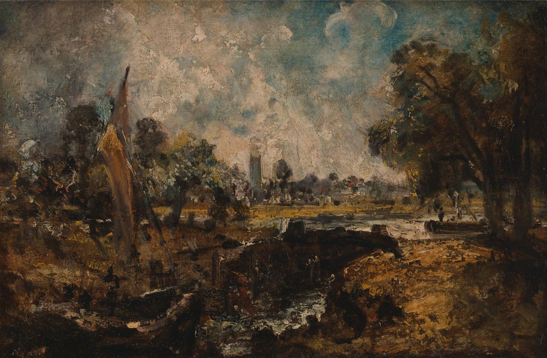 John Constable. Castle Dedham. Sketch