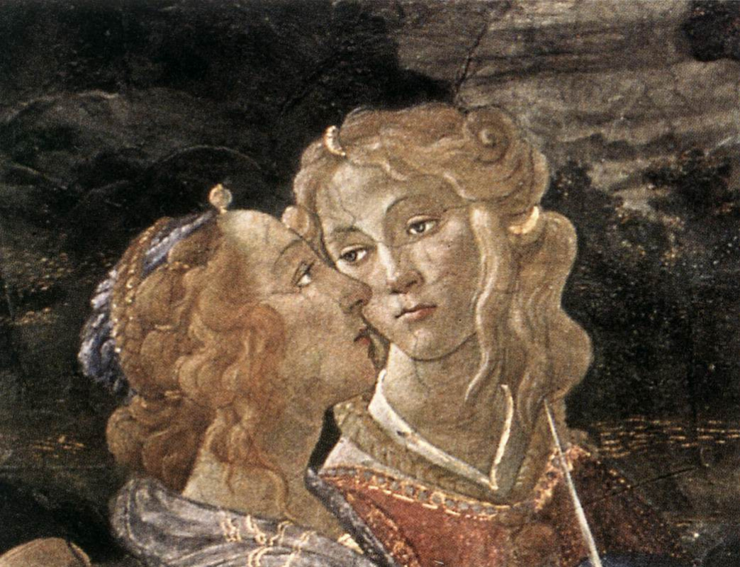 Sandro Botticelli. The three temptations of Christ (detail)