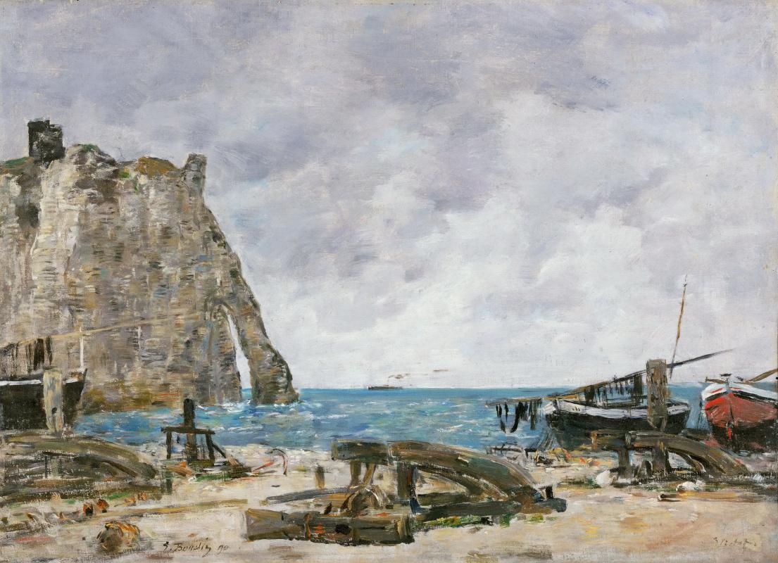Eugene Boudin. Beach at Étretat