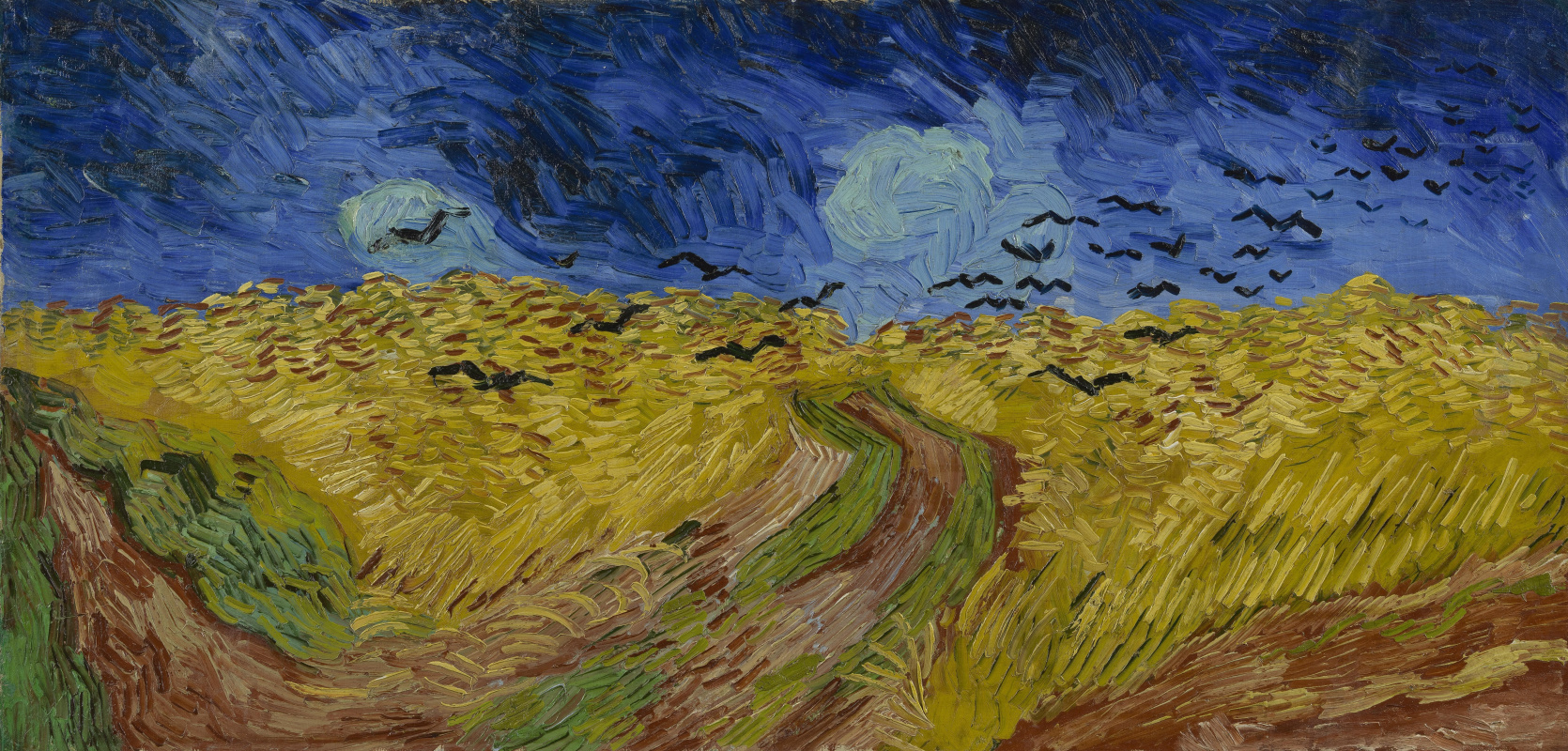 Vincent van Gogh. Wheat field with crows