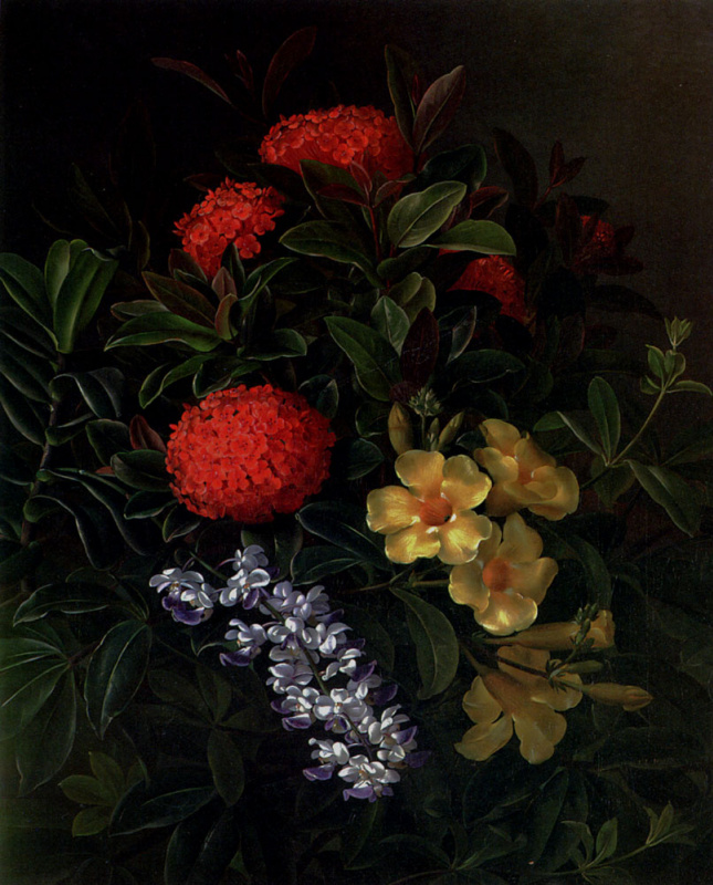 Йохан Лоренц Дженсен. Натюрморт с цветами