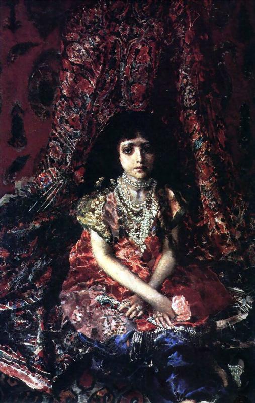 Михаил Александрович Врубель. Девочка на фоне персидского ковра