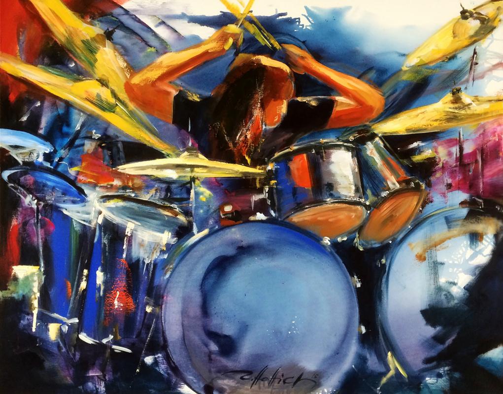 Robert Hettich. Drum solo