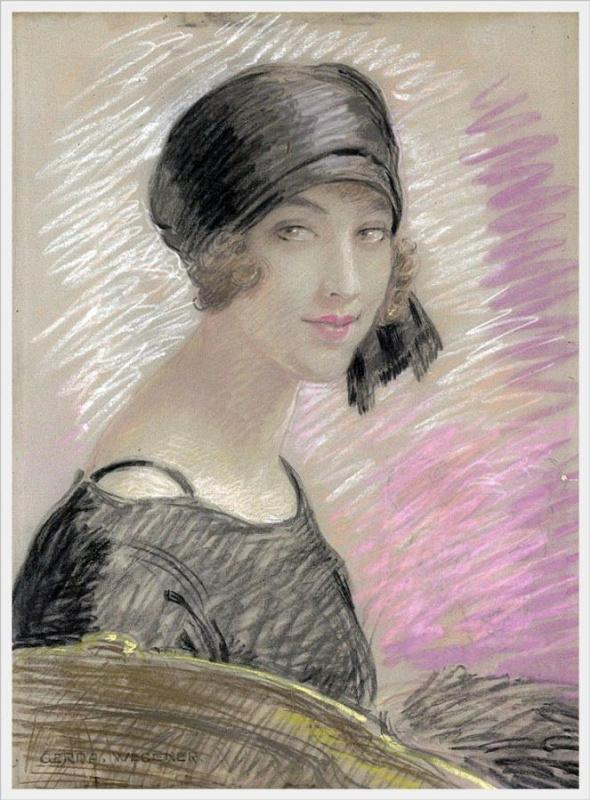 Gerda Wegener. Portrait of a woman
