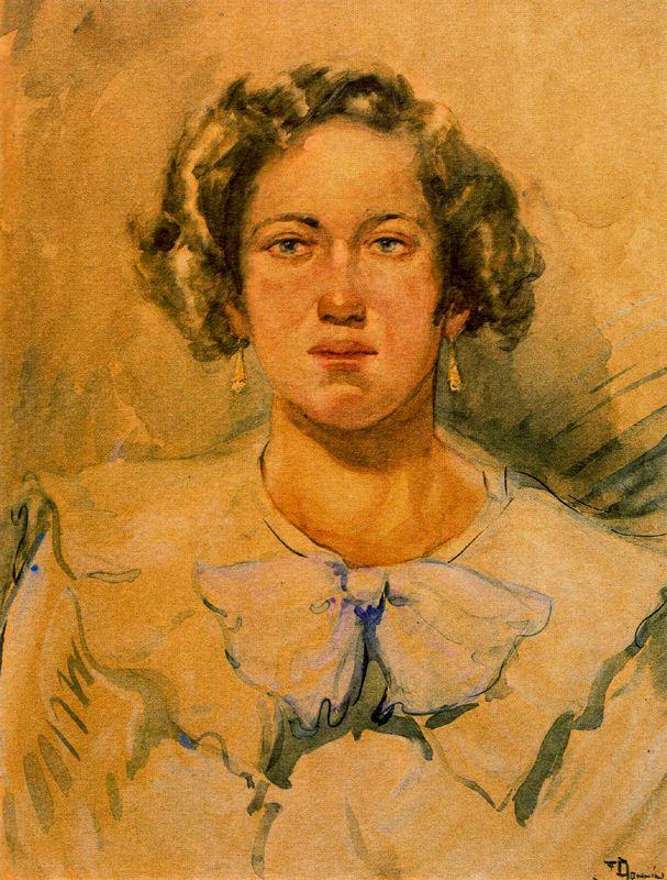 Франсиско Боннин. Портрет женщины