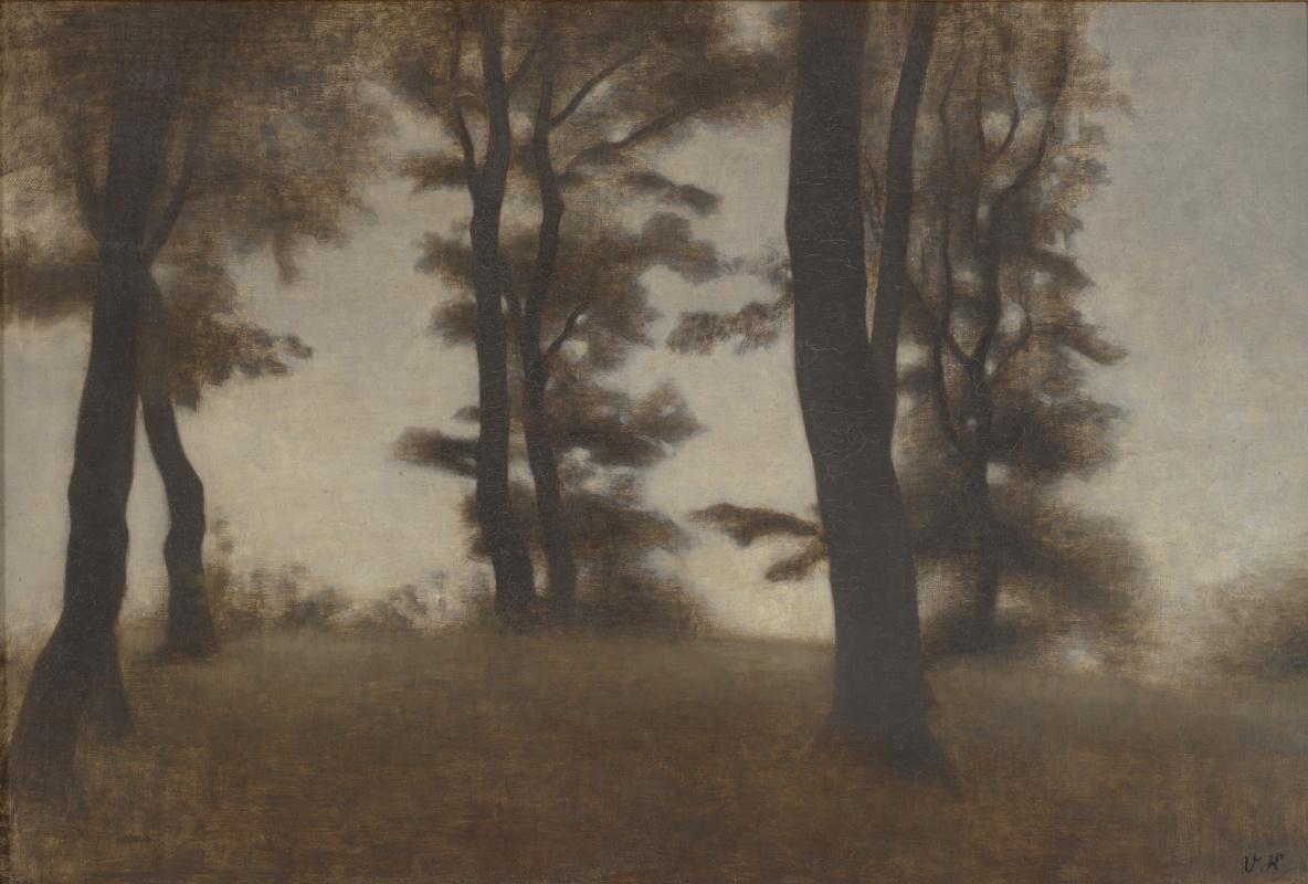 Vilhelm Hammershøi. The trunks of trees. Arresodel near Frederickswehr, North Zealand